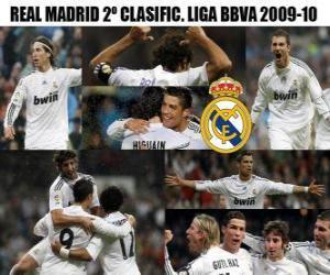 Puzle Classificado 2 da Liga BBVA Real Madrid 2009-2010