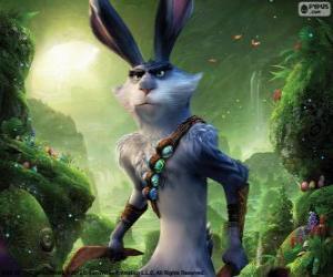 Puzle Coelhinho, coelho de Páscoa. Personagem de A Origem dos Guardiões