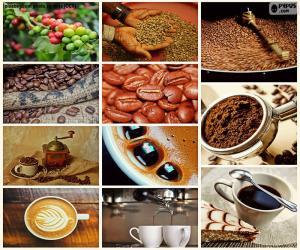 Puzle Colagem de café