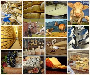 Puzle Colagem de queijo