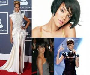 Puzle Colagem de Rihanna