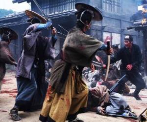 Puzle Combate samurai várias