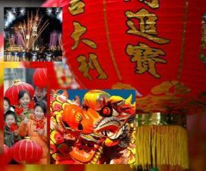 Puzle Comemoração do Ano Novo Chinês