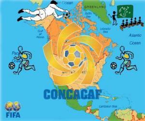 Puzle Confederação de Futebol da América do Norte, Central e Caribe (CONCACAF)