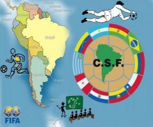 Puzle Confederação Sul-Americana de Futebol (CONMEBOL)