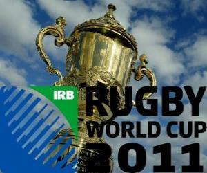 Puzle Copa do Mundo de Rugby 2011. É celebrada na Nova Zelândia a partir de 9 setembro - 23 outubro