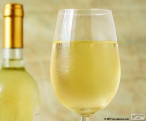 Puzle Copo de vinho branco