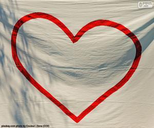 Puzle Coração pintado