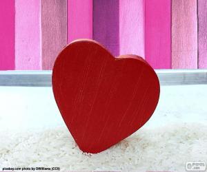 Puzle Coração vermelho