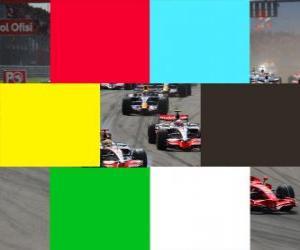 Puzle Cores de bandeiras F1