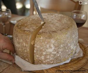 Puzle Cortando um queijo de ovelha