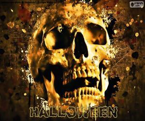 Puzle Crânio de Halloween