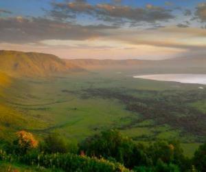 Puzle Cratera de Ngorongoro, Ngorongoro, na Tanzânia