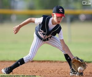 Puzle Criança jogando beisebol