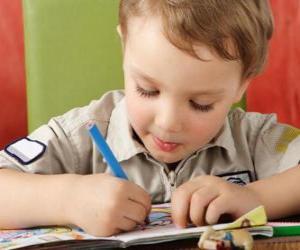 Puzle Criança pintar