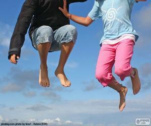 Puzle Crianças pulando