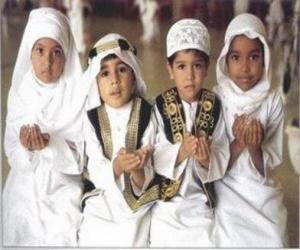Puzle Crianças fazendo Du'a, uma súplica no Islã