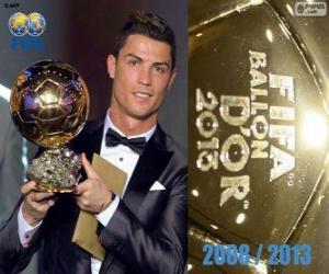 Puzle Cristiano Ronaldo Ballon d'Or da FIFA 2013