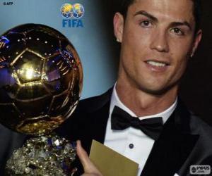 Puzle Cristiano Ronaldo Ballon d'Or da FIFA 2014