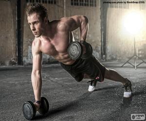 Puzle CrossFit com pesos