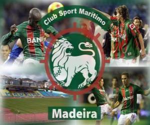 Puzle CS Marítimo de Funchal, em Madeira, clube de futebol português
