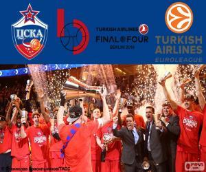 Puzle CSKA Moscou campeão da Euroliga 16