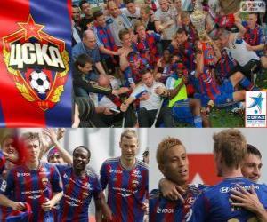 Puzle CSKA Moscou, campeão da Liga de futebol russo, Premier Liga 2012-2013