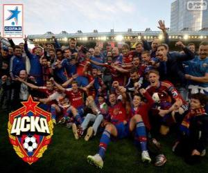 Puzle CSKA Moscou, campeão Liga Premier 2013-2014, a liga de futebol russo