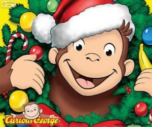 Puzle Curious George no Natal