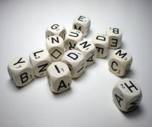 Puzle Dados com letras