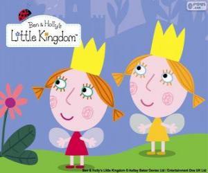 Puzle Daisy e Poppy, as fadas gêmeas, as irmãzinhas de Holly