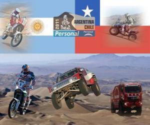 Puzle Dakar 2011 Argentina Chile