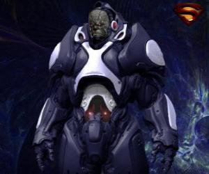 Puzle Darkseid, tirano de um mundo distante de Apokolips chamados de deuses cósmicos.