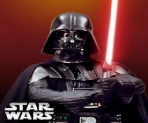 Puzle Darth Vader com seu sabre de luz