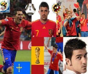Puzle David Villa (Espanha meta) atacante da seleção espanhola