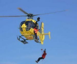 Puzle de emergência de helicóptero