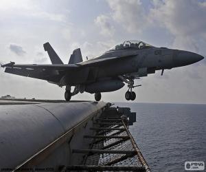 Puzle Decolagem de um avião F18