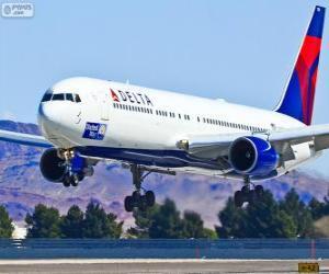 Puzle Delta Air Lines, a companhia aérea dos Estados Unidos