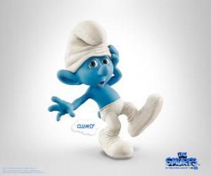 Puzle Desastrado é um bocado parvo mas tipo e Linguado - Os Smurfs, filme -