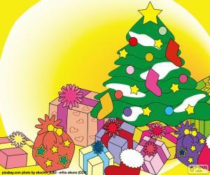 Puzle Desenho, árvore de Natal