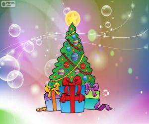 Puzle Desenho de árvore de Natal