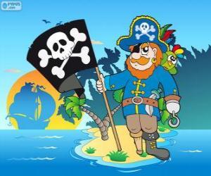 Puzle Desenho de capitão pirata