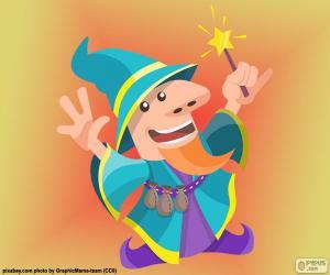 Puzle Desenho de feiticeiro