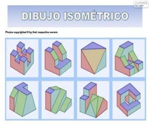 Puzle Desenhos isométricos