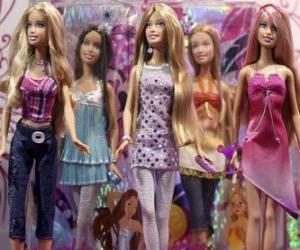 Puzle Desfile de Barbies