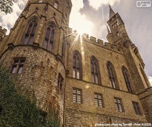 Puzle Detalhe de o Castelo de Hohenzollern-Sigmaringen, AlemanhaDetalhe