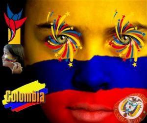 Puzle Dia da Independência da Colômbia comemora a 20 de julho de 1810