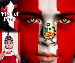 Puzle Dia da Independência do Peru, 28 de julho. Ele comemora a Declaração de Independência da Espanha em 1821
