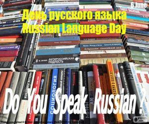 Puzle Dia da língua russa