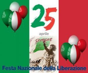 Puzle Dia da Liberação, feriado nacional italiano comemorado em 25 de abril